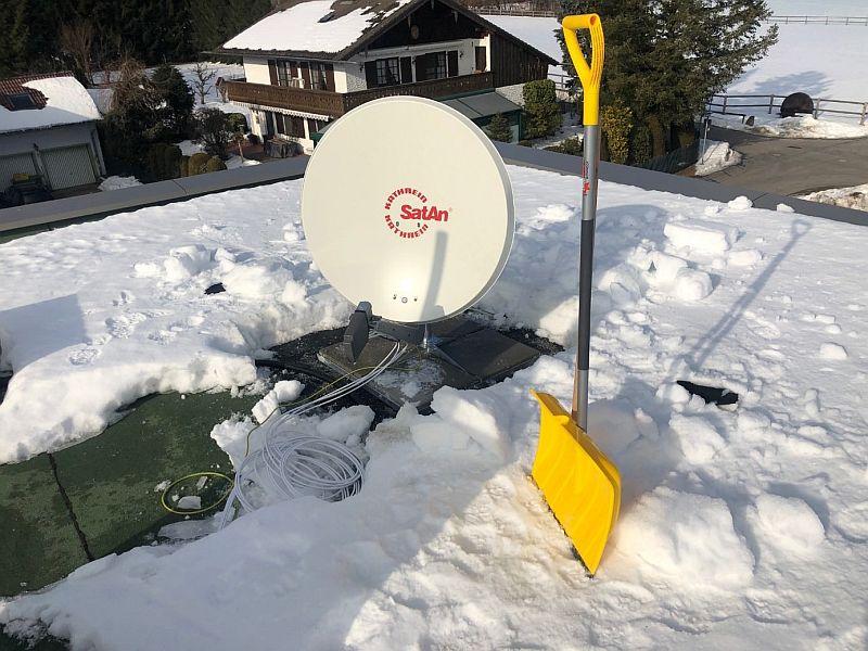Beheizte Satelliten-Anlage